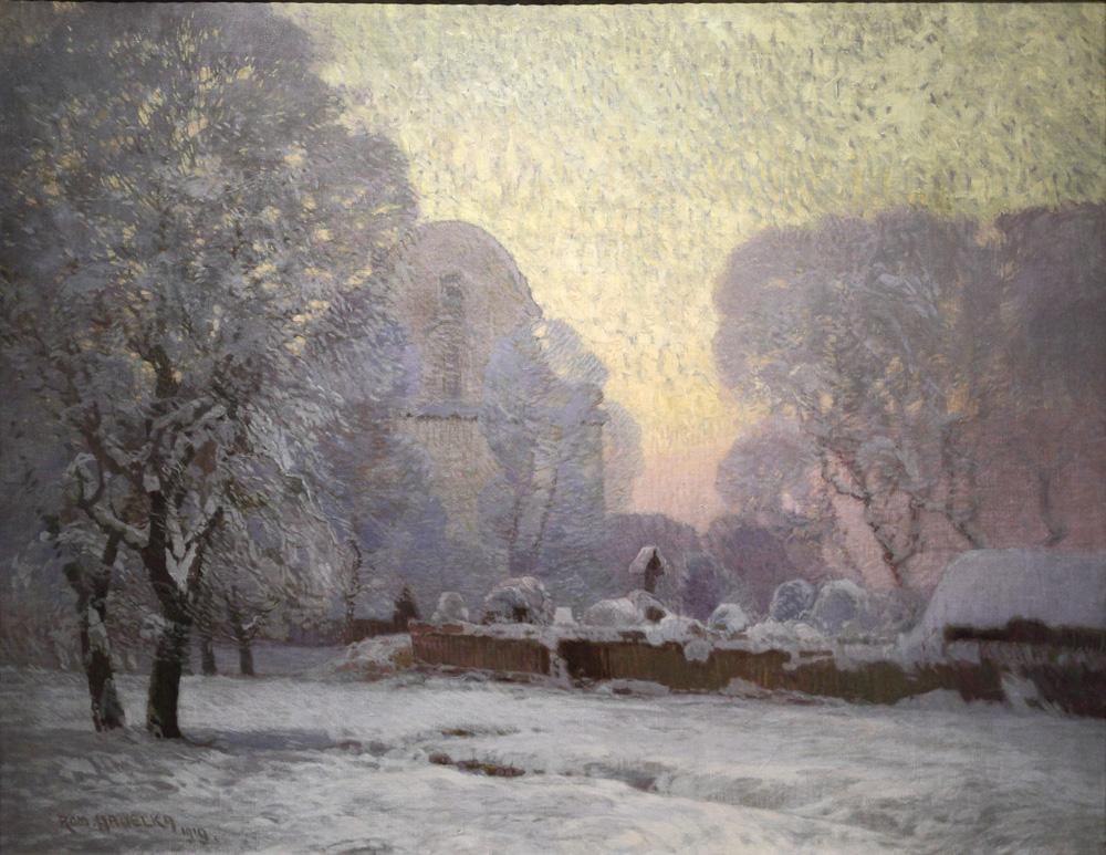 Roman Havelka, Zimní partie [Winter scenery], 1919