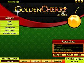 GoldenCherry Casino Lobby