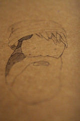 Day 61-Finders Keepers, (snail,snail) Tags: art hat pencils notebook beard drawing cardboard project365