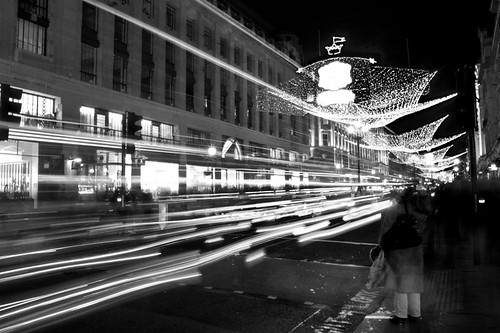 Regent Street at christmas. London. Regent Street en navidad. Londres