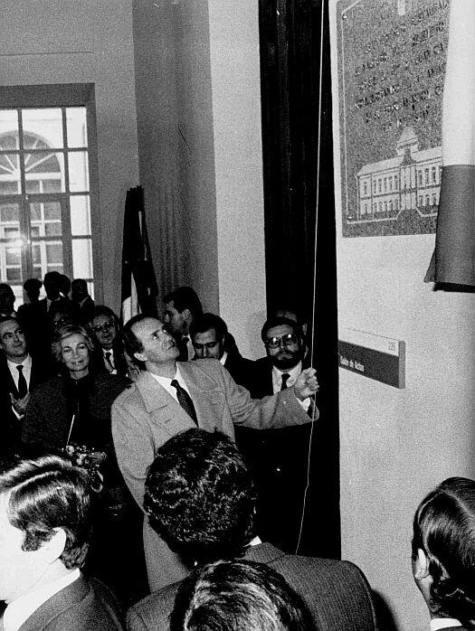 Inauguración de la restauración del Hospital del Nuncio en 1985