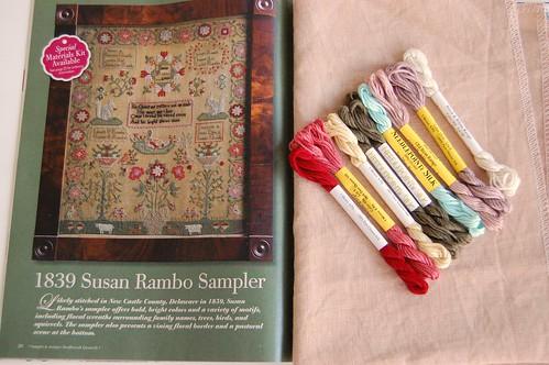 1839 Susan Rambo Sampler