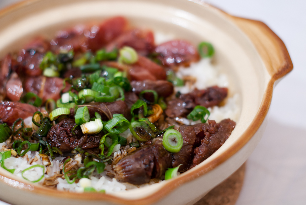 Clay Pot Rice with Chinese Sausage