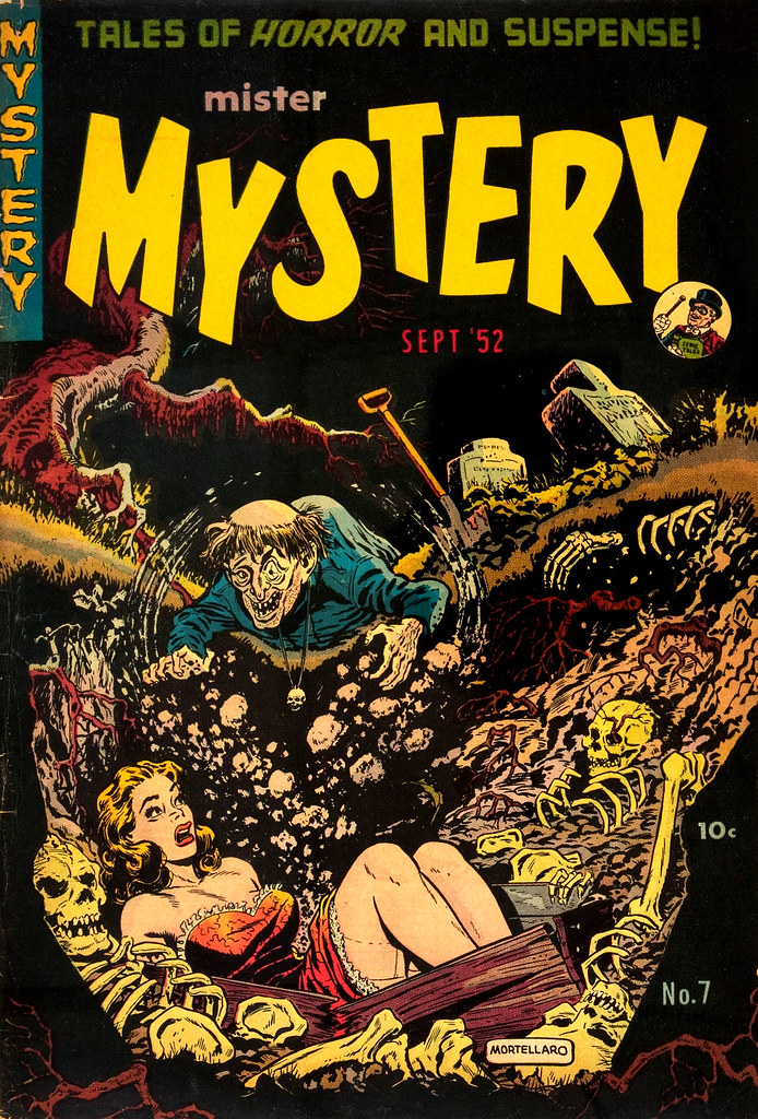 Mister Mystery #7 Tony Mortellaro Cover (Aragon, Magazines, Inc. 1952)
