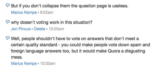 if you don't collapse them the question page is useless.
