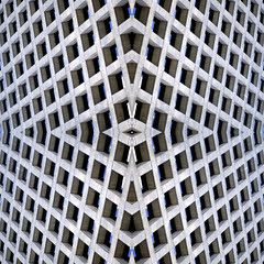 Square Diamonds (Bhlubarber) Tags: urban abstract building art film composite architecture vancouver digital diamonds grid artwork pattern rough shape geomoetry davidniddrie