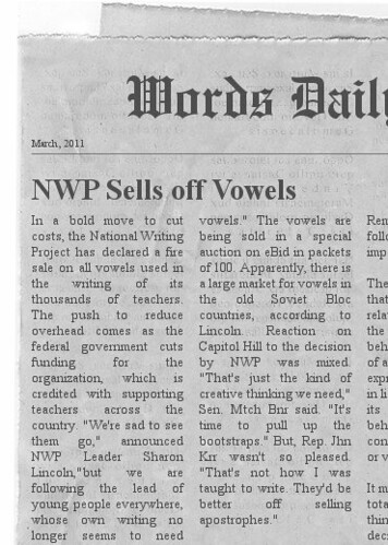 nwp sells off vowels