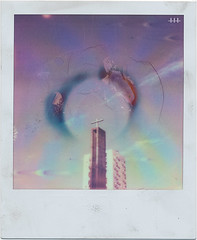 HOLY High Rise (steven -l-l-l- monteau) Tags: church analog project polaroid sx70 fire 60s cit bordeaux halo ring burn tip burnt highrise council instant push steven lighter sonar brl 70 eglise aura hlm feu barre immeuble impossible buiding ip sx alignment lll alignement autofocus briquet socialhousing instantan holyfuck monteau aurole colorshade grandparc px70 poissonfantome bordeauxcub stevenmonteau counciltowerblock