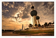 A Window To Kuwait Towers (Damon | Photography) Tags: tower window landscape high nikon dynamic towers wide sigma to kuwait mm polarizer range damon hdr circular circularpolarizer hoya q8 clp sigma1020mm d90 a nikond90