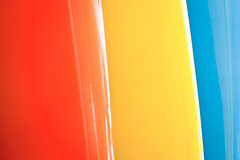 Tricolor (thedot_ru) Tags: california ca blue red usa abstract lines yellow geotagged surf board surfboard tricolor canon5d showcase 2010