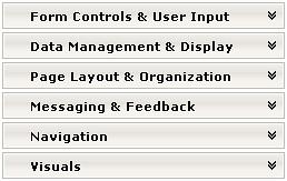 left-hand navigation menu