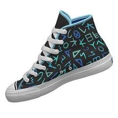 Phoenician alphabet pro-keds high top shoe (alenasb_design) Tags: blue black archaeology sport writing shoe shoes character sneakers sneaker alphabet keds phoenician
