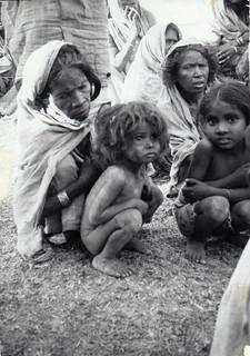 Bihar famine 1966-67. a village near Patna