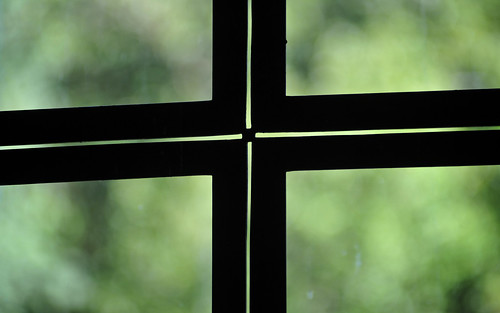 Silhouetted Window Frame