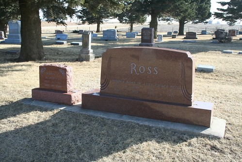 John Ross group of tombstones