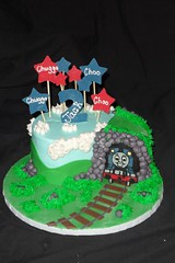 "Thomas the train birthday cake and tunnel • <a style=""font-size:0.8em;"" href=""http://www.flickr.com/photos/60584691@N02/5525362780/"" target=""_blank"">View on Flickr</a>"