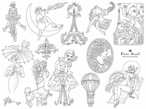 Bonjour Embroidery Pattern!