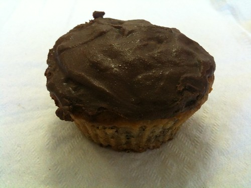Banana Muffin with Dark Chocolate Ganache