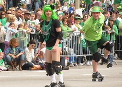 Arch Rival Rollergirls at 2011 St. Patrick's Day Parade - St. Louis, MO_IMG_5711b (Wampa-One) Tags: woman cute green girl march downtown pretty rollerderby parade marketstreet stpats saintpatricksday greenhair stpatricksdayparade stlouismo saintlouismissouri 2011 irishparade greenwig archrivalrollergirls