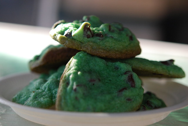 Green Toll House Cookies for St. Patrick's Day
