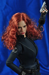 DSC_0073 (Quantum Stalker) Tags: 2 man black hot scarlett sexy movie toys iron doll curvy tony madness figure spy bite shield 16 dual bodysuit stark russian widow natasha pistols romanov johanson johansson operative