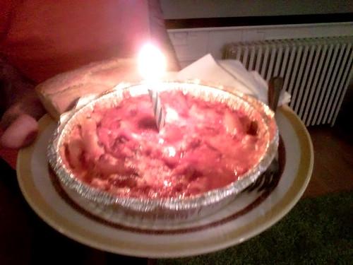 Baked ziti birthday cake!