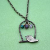 Sweet Brass Bird Mother's Necklace  ***AUCTION!***