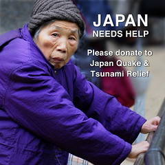 There is no more tears to cry... Help survivors of Japan disaster overcome their plight... (williamcho) Tags: old water japan earthquake tsunami help hunger elderly tragedy aged hakone donate chaotic turmoil deaths plight portraitworld