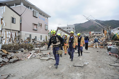 Search-and-Rescue Workers Arrive in Ofunato [Image 6 of 23]