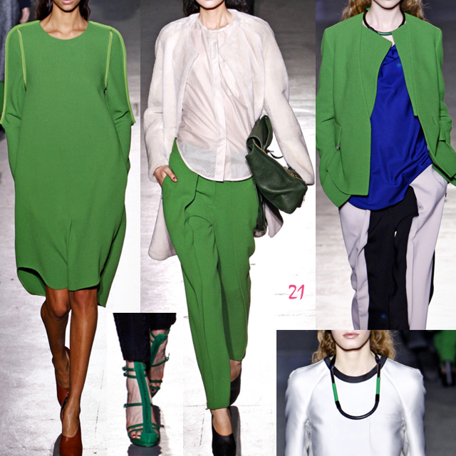 3.1 phillip lim green, fashion, 2011 runway, 3.1 phillip lim fall winter 2011