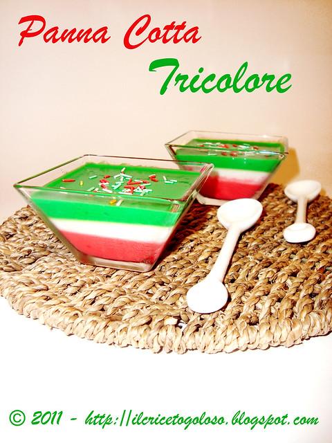Panna Cotta Tricolore