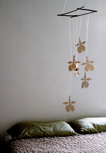 Mobile of Paper Orchids