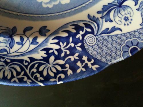 spode china plate rim