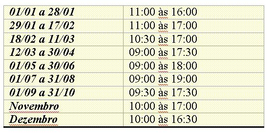tabela - horarios - kylemore - abbey