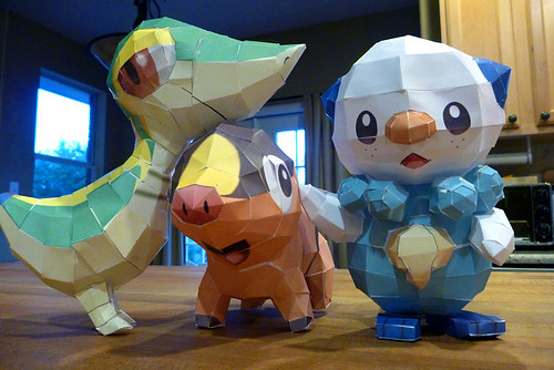 Starter Pokemon Papercraft
