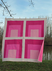 Anni in the wind (olive_and_ollie) Tags: pink modern square design sewing monochromatic easy patchwork moderndesign heatherjones josefalbers annialbers homagetothesquare oliveandollie modernquilting straightlinequilting
