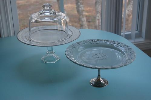 handmade pedestal dessert plates