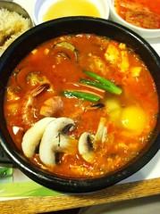 Combo Kimchi Spicy Hot Pot @ grandma kim's korean bbq