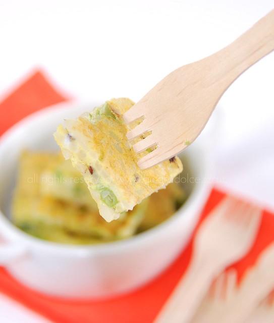 frittata di riso e zucchine (forchetta)