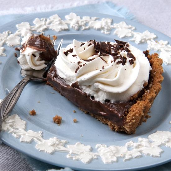 slice Kay's Choc Cream pie