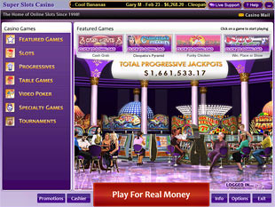 Super Slots Casino Lobby