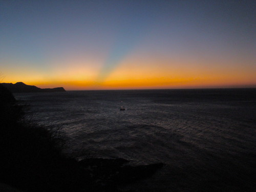 Atardecer de colores- Sombra azul-verdosa, Ocotal, Guanacaste