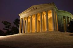Jefferson Memorial (It's my whole damn raison d'etre) Tags: green alex yellow night dawn dc washington memorial long exposure purple clear jefferson ringexcellence dblringexcellence tplringexcellence erkiletian