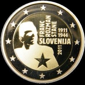 2 Euro Slovinsko 2011, Franc Rozman-Stane
