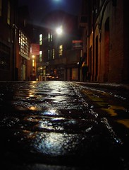 Cobbled Street (FlaxenFlash) Tags: street city urban alley belfast cobbles