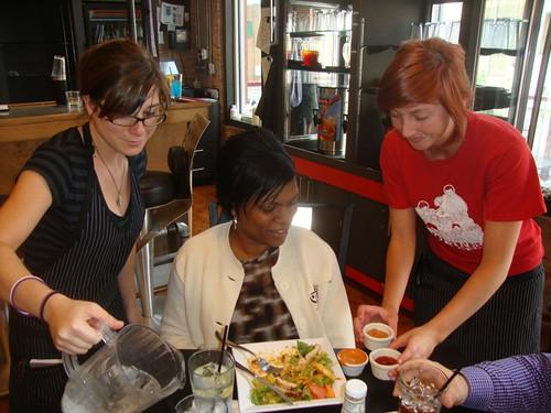 Abby Singer's Bistro, Shreveport: Jennifer Spears, Brandy Evans, Kelli Sizemore by trudeau