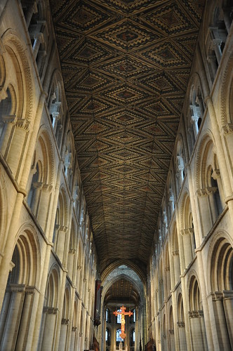 The stunning cathedral ceiling