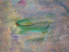 "Claude Monet, ""Les Nymphéas,"" Les Nuages (detail of lily pad)"