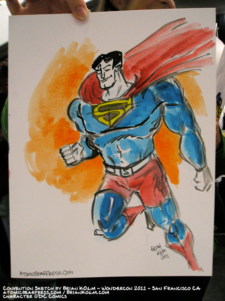 wondercon 2011 comission - Superman