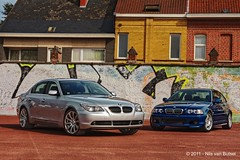 BMW_E60_paps_graffiti_HDR3 (nils_vb88) Tags: blue car wall graffiti photoshoot bmw rims coupe topaz 5series 3series e46 e60 19inch worldcars style135mreplica tam3077